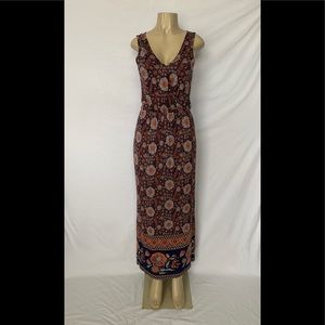 Joie Size Small Sleeveless Floral Print Maxi Dress